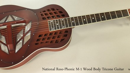 National-Reso-Phonic-M-1-Wood-Body-Tricone-Guitar-Full-Front-View