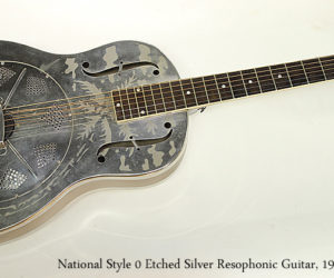 National Style 0 Etched Silver Resophonic Guitar, 1930s