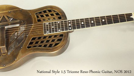 National-Style-1.5-Tricone-Reso-Phonic-Guitar-NOS-2012-Full-Front-View