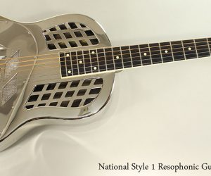 2001 National Style 1 Resophonic Guitar SOLD!