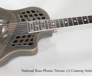 Sold!  2012 National Reso-Phonic Tricone 1.5 Cutaway Antique Brass