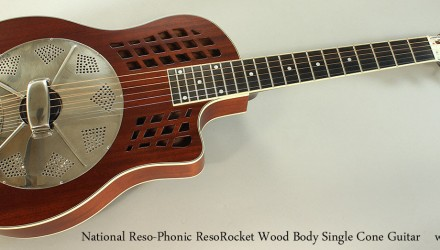 National-Reso-Phonic-ResoRocket-Wood-Body-Single-Cone-Guitar-Full-Front-View