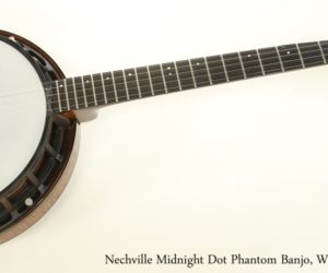Nechville Midnight Dot Phantom Banjo, Walnut Stain 2012