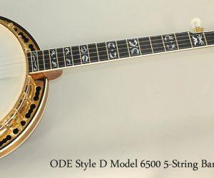 1980 ODE Style D Model 6500 5-String Banjo  SOLD