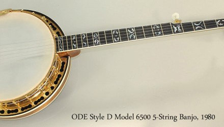 ODE-Style-D-Model-6500-5-String-Banjo-1980-Full-Front-View