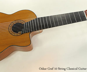 ❌SOLD❌  Oskar Graf 10 String Classical Guitar 2006