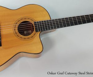 2000 Oskar Graf Cutaway Steel String Guitar  SOLD