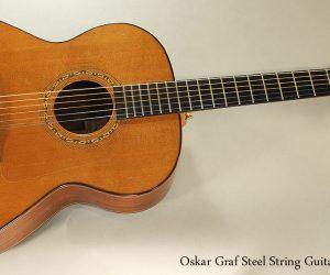 1992 Oskar Graf Steel String Guitar SOLD