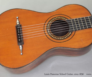 circa 1830 Louis Panormo-School Guitar  SOLD