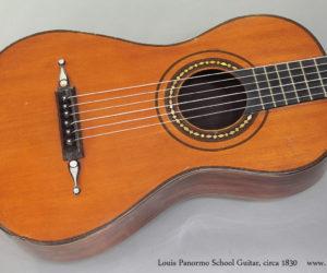 circa 1830 Louis Panormo-School Guitar  SOLD
