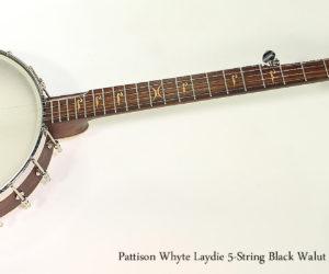 2017 Pattison Whyte Laydie 5-String Black Walut Banjo
