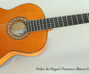 2002 Pedro de Miguel Flamenco Blanca Guitar