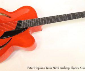 Peter Hopkins Tessa Nova Archtop Electric Guitar Red, 2009