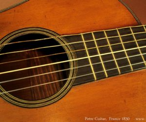 Two French Romantic Era Guitars - 1820 and 1830 (consignment)