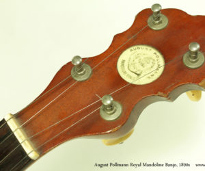 1890s August Pollmann Royal Mandoline Banjo (consignment)  SOLD