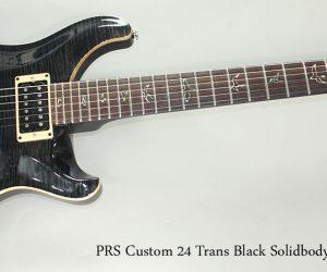 SOLD! 2008 PRS Custom 24 Trans Black Solidbody Electric Guitar