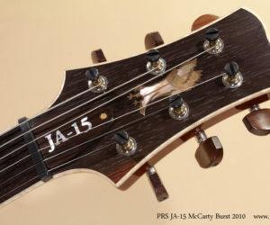 2010 PRS JA-15 McCarty Burst (consignment) SOLD
