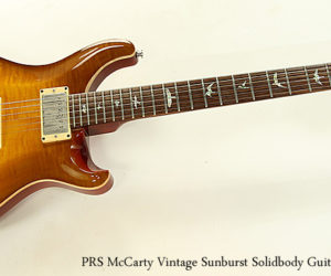 SOLD!  PRS McCarty Vintage Sunburst Solidbody Guitar, 1999