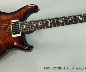 SOLD!!! 2013 PRS P22 Black Gold Wrap Burst Solidbody Guitar