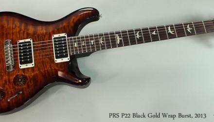 PRS-P22-Black-Gold-Wrap-Burst-2013-Full-Front-View