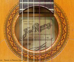 1981 Ramirez 1a Flamenco Guitar NO LONGER AVAILABLE