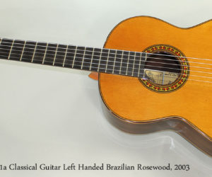 2003 Ramirez 1a Classical Guitar Left Handed Brazilian Rosewood