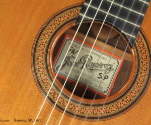 1992 Ramirez SP Classical Guitar   SOLD