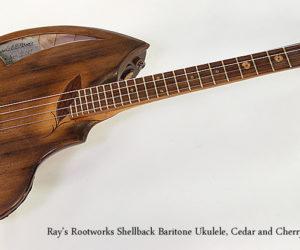 Ray's Rootworks Shellback Baritone Ukulele, Cedar and Cherry, 2017