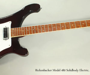 ‼️ NO LONGER AVAILABLE‼️ 1973 Rickenbacker Model 480 Solidbody Electric, Burgundy