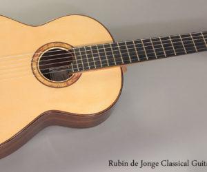 2013 Rubin de Jonge Classical Guitar