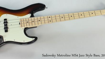 Sadowsky-Metroline-MS4-Jazz-Style-Bass-2010-Full-Front-View