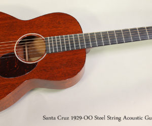 SOLD!!! 2011 Santa Cruz 1929-OO Steel String Acoustic Guitar