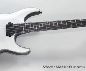 Schecter KM6 Keith Merrow Trans White