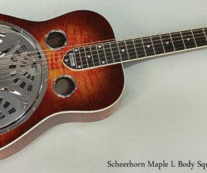 Scheerhorn L-Body Flame Maple Squareneck Resophonic Guitar