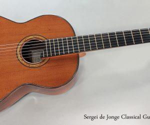 SOLD!!! 2013 Sergei de Jonge Classical Guitar