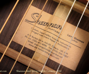 Shannon Double Cutaway steel string acoustic (No Longer Available)