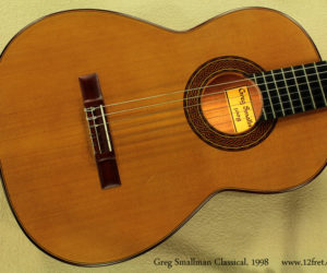Greg Smallman Classical, 1998 (Consignment) SOLD