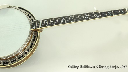 Stelling-Bellflower-5-String-Banjo-1987-Full-Front-View