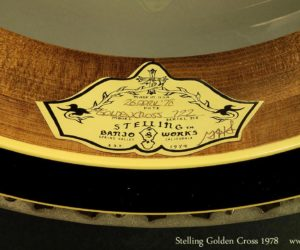 Stelling Golden Cross Banjo 1978 (consignment) SOLD