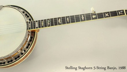 Stelling-Staghorn-5-String-Banjo-1988-Full-Front-View