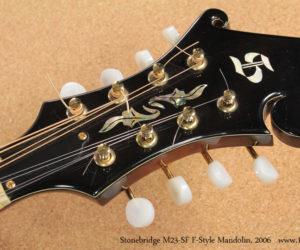 2006 Stonebridge M23-SF F Style Mandolin No Longer Available