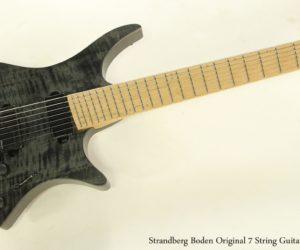 SOLD!!! Strandberg Boden Original 7 String Guitar, 2017