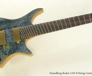 ❌ SOLD ❌ Strandberg Boden USA 8 String Guitar, 2012