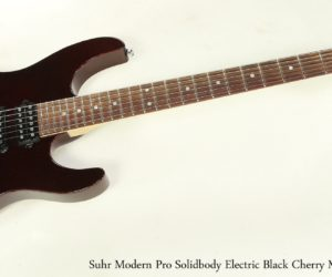 Suhr Modern Pro Solidbody Electric Black Cherry Metallic, 2011