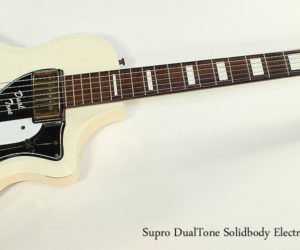 NO LONGER AVAILABLE!!! 1959 Supro DualTone Solidbody Electric Guitar