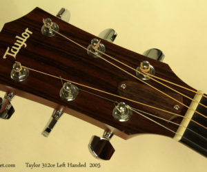 2005 Taylor 312ce Left Handed Steel String Acoustic (consignment) SOLD