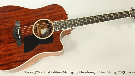 Taylor-520ce-First-Edition-Mahogany-Dreadnought-Steel-String-2013-Full-Front-View