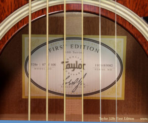 Taylor 528e First Edition SOLD
