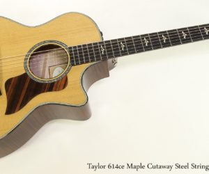 ‼️Off The MAP Sale‼️  Save $1299. - Taylor 614ce Maple Cutaway Steel String Guitar, 2015