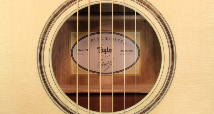 Taylor-616ce-LTD-label